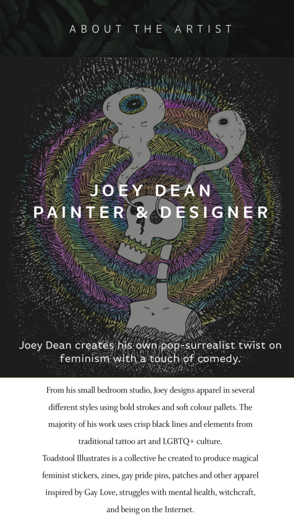 About the author title card: Joey Dean