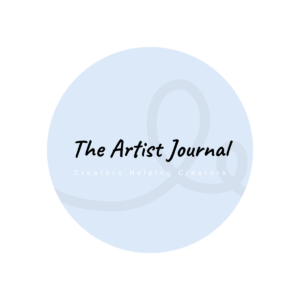 The Artist Journal blog circle text logo
