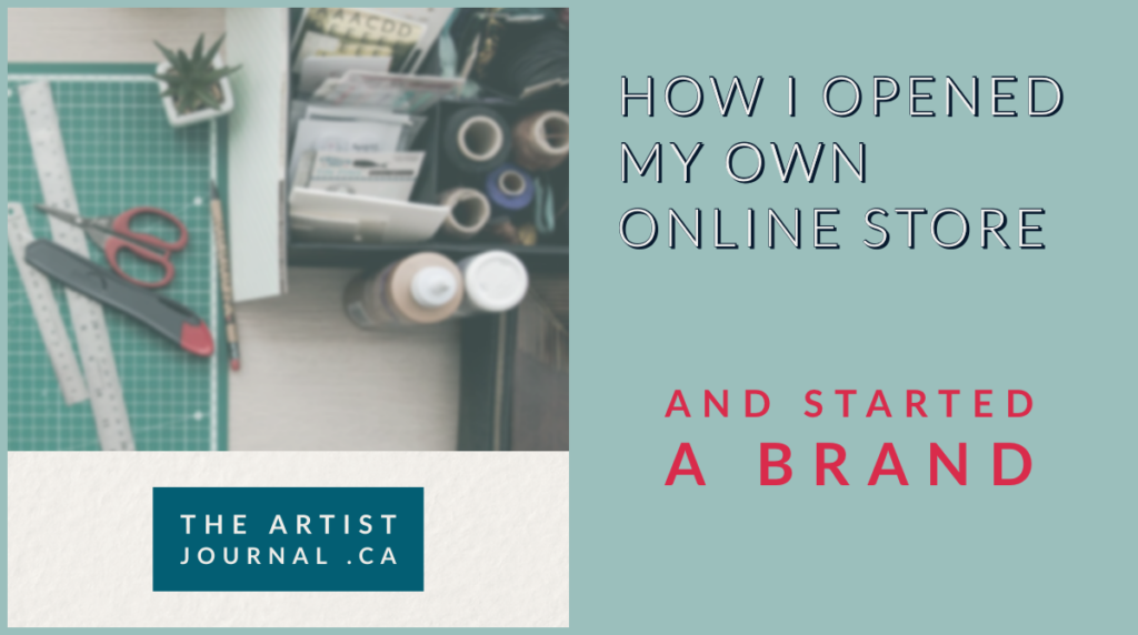 """How I opened my own online store and started a brand"" Crafting desk with a cutting board, scissors and rulers."