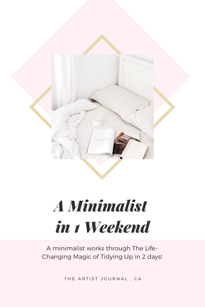 A minimalist in 1 weekend Pinterest card