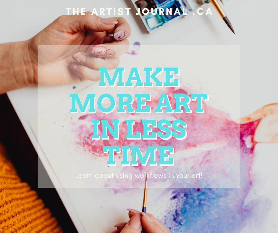 Make more art in less time by learning how to use workflows in your art